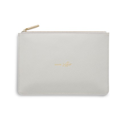 Katie Loxton Personalised 'Super Sister' Perfect Pouch In Pale Grey