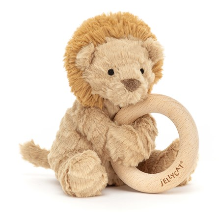 Jellycat Fuddlewuddle Lion Wooden Ring Toy