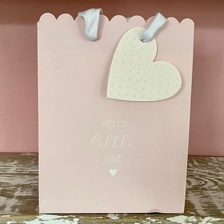 'Hello Little One' Pink Large Gift Bag