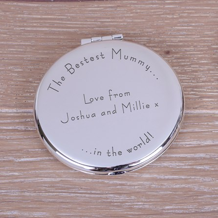 Personalised 'Bestest Mummy' Compact Mirror
