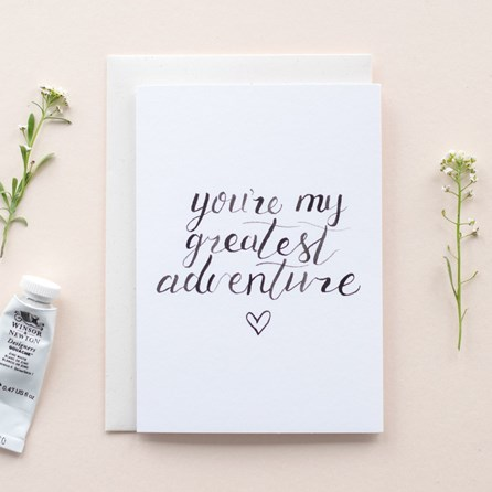 'You're My Greatest Adventure' Card