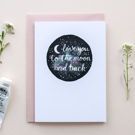 'Love You To The Moon And Back' Card