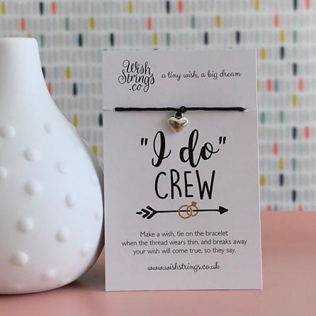 'I Do Crew' Heart Wish Bracelet