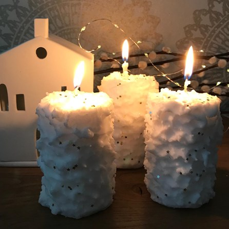 Festive Sparkly Candles