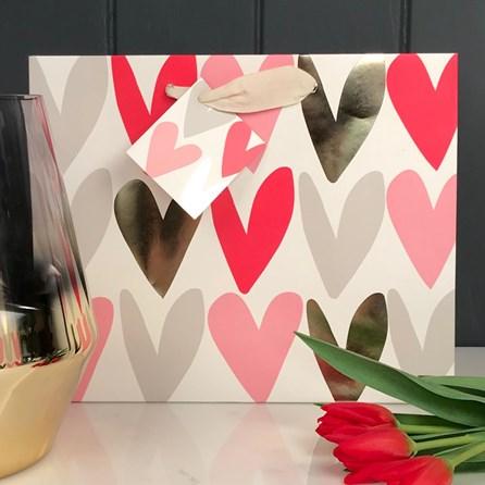 Caroline Gardner Hearts Landscape Gift Bag