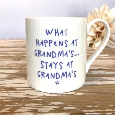 'What Happens At Grandma's...' Bone China Mug