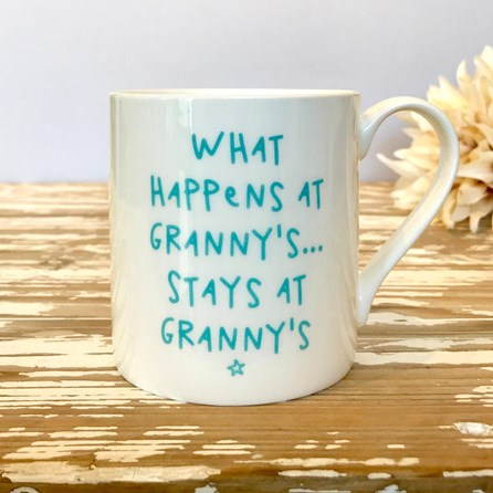 'What Happens At Granny's...' Bone China Mug