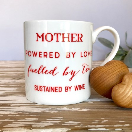 'Mother - Love, Tea, Wine' Bone China Mug