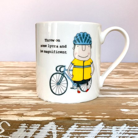 'Lycra - Be Magnificent' Bone China Mug