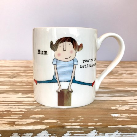 'Brilliantest Mum' Bone China Mug