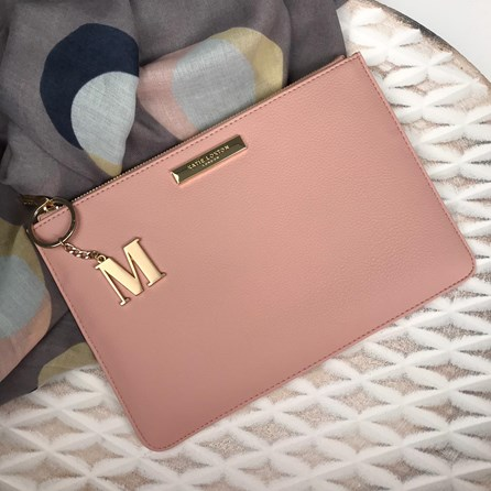 Katie Loxton Personalised Pebble Pouch In Pink