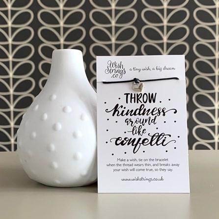 'Throw Kindness Around Like Confetti' Wish Bracelet