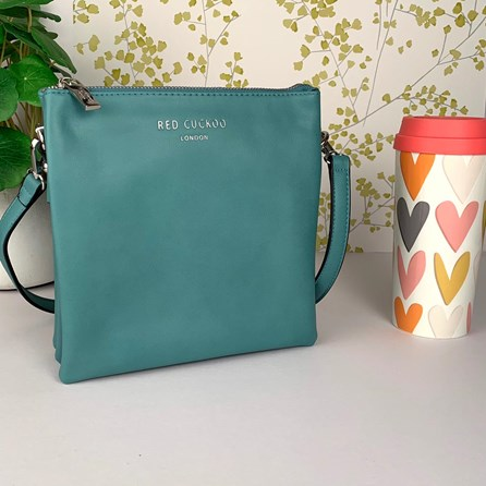 Tall Cross Body Bag In Teal
