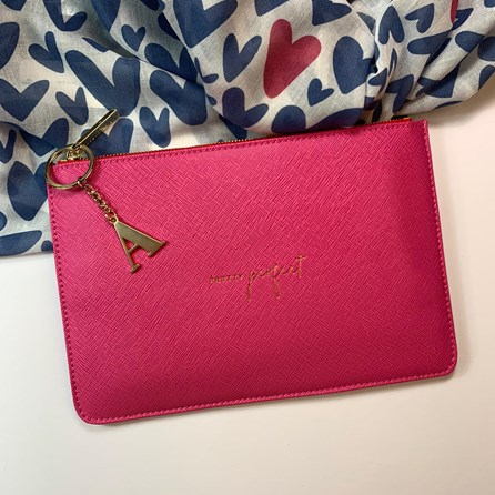 Katie Loxton Personalised 'Pretty Perfect' Colour Pop Perfect Pouch In Hot Pink