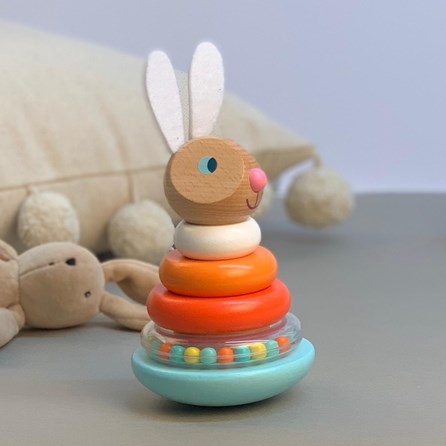 Wooden Stackable Roly-poly Rabbit Toy