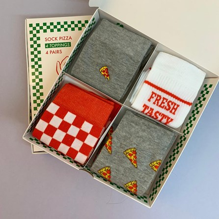 Pizza Box Socks Gift Set Of 4