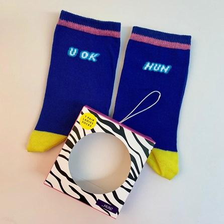 'U OK Hun' Socks In A Gift Box