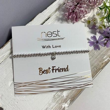 'Best Friend' Beaded Charm Bracelet