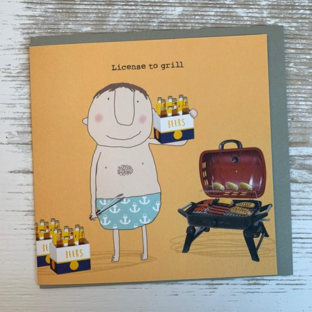 'License To Grill' Greetings Card