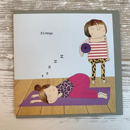 'Slowga' Greetings Card