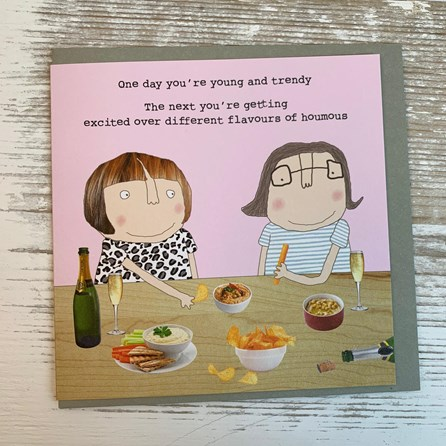 'One Day You're Young And Trendy...' Greetings Card