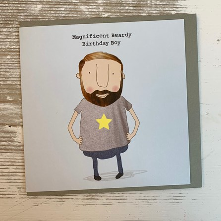 'Magnificent Beardy Birthday Boy' Greetings Card