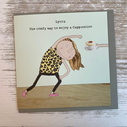 '...The Comfy Way To Enjoy A Cappuccino' Greetings Card