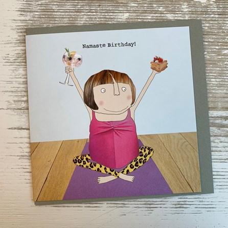 'Namaste Birthday' Greetings Card