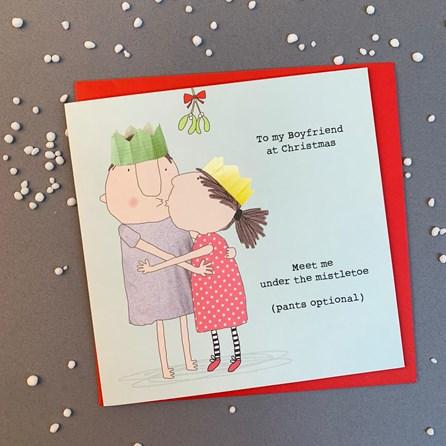 'To My Boyfriend At Christmas...' Christmas Card