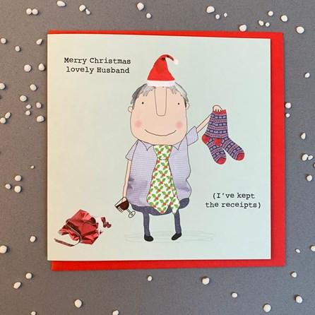 'Merry Christmas Lovely Husband...' Christmas Card