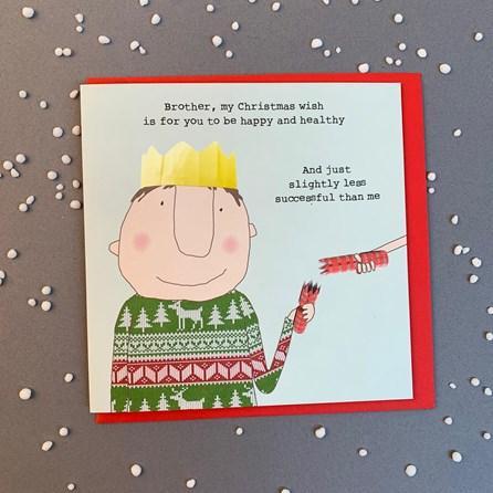 'Brother, My Christmas Wish...' Christmas Card