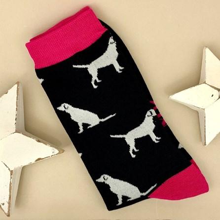 Men's Bamboo Labrador Socks in Black