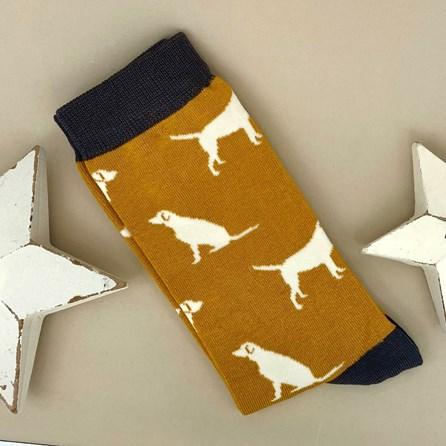 Men's Bamboo Labrador Socks in Mustard