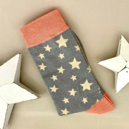 Bamboo Stars Socks in Grey
