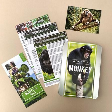 Adopt a Monkey Gift Tin