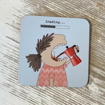 'Loading...' Drinks Coaster