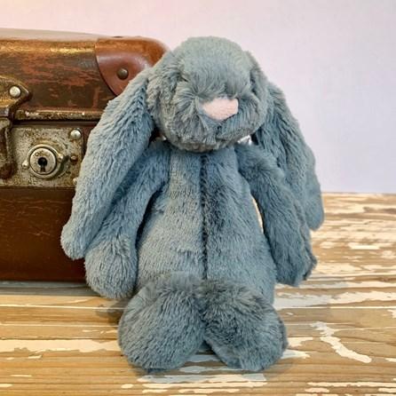 Jellycat Bashful Dusky Blue Bunny Small Soft Toy