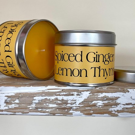 Pintail 'Spiced Ginger & Lemon Thyme' Scented Candle Tin