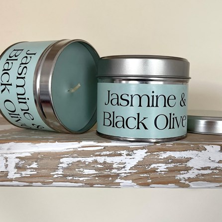 Pintail 'Jasmine & Black Olive' Scented Candle Tin
