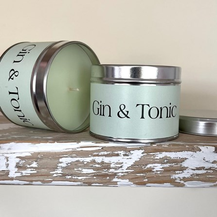 Pintail 'Gin & Tonic' Scented Candle Tin