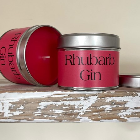 Pintail 'Rhubarb Gin' Scented Candle Tin