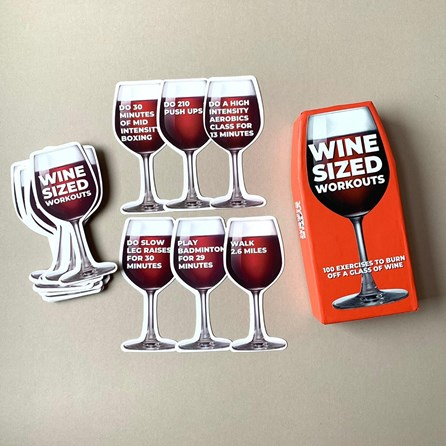 100 Wine Sized Workout Cards