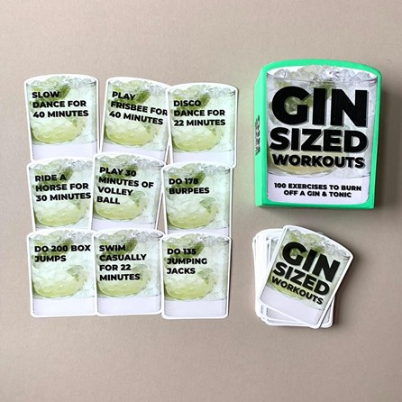 100 Gin Sized Workout Cards