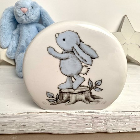 Jellycat Bashful Blue Bunny Money Box
