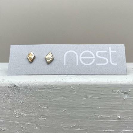 Sterling Silver Mini Diamond Stud Earrings