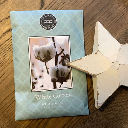 Scented Room Sachet - White Cotton