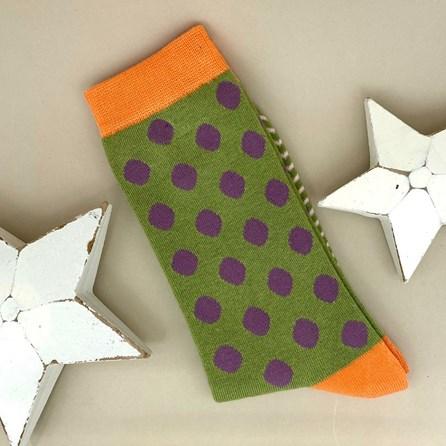 Bamboo Green Dotty Socks