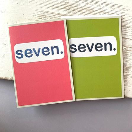 'Seven.' Children's Birthday Card