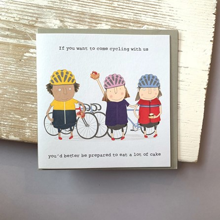 'If You Want To Come Cycling...' Greetings Card