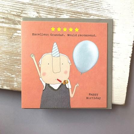 'Excellent Grandad...' Greetings Card